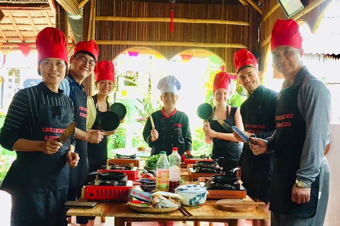 Eco cooking class & Crab Fishing by bamboo basket boat Tour