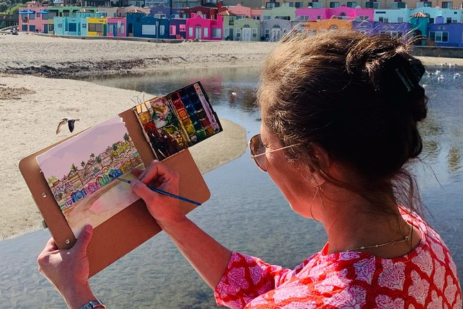 Sketching and painting Capitola Village