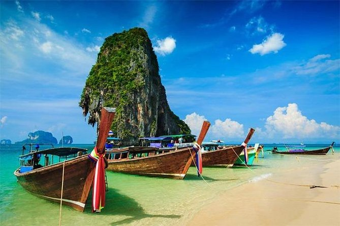 Krabi 4 Island & Sunset Tour By Long Tail Boat + Dinner