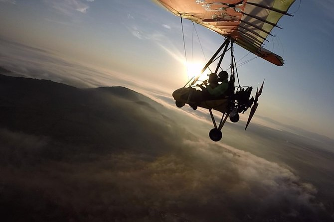 Motor Hang gliding above Transylvanian heritages Dracula`s Castle and many more
