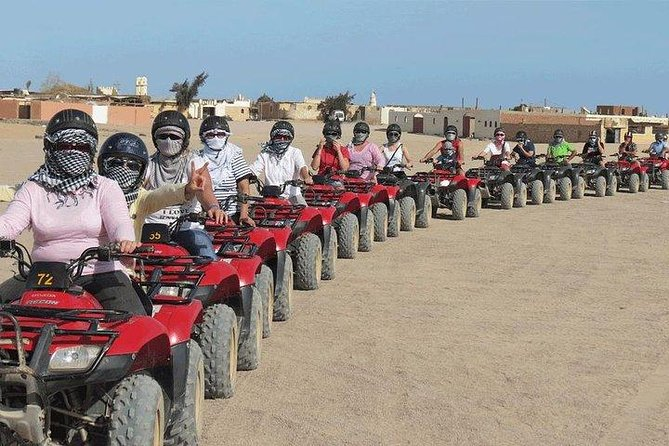 safari trip by quad bike in hurghda with Bedouin dinner