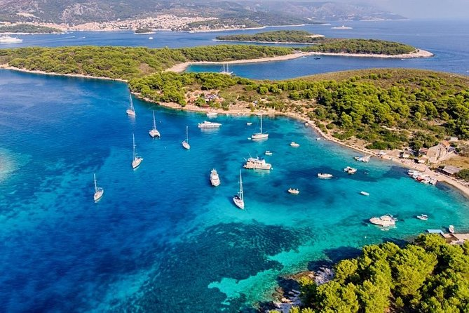 Full Day Private Boat Tour to Golden Horn , Hvar and Pakleni Islands from Trogir