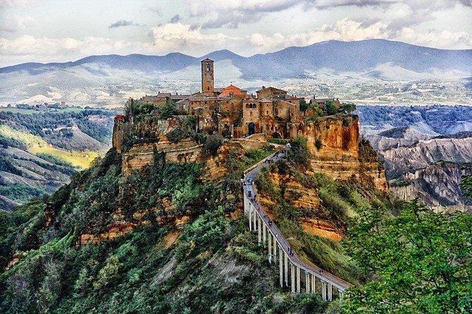 Orvieto and Civita di Bagnoregio, the dying city, from Civitavecchia