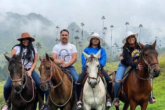 horseback riding viewpoint and river cocora valley