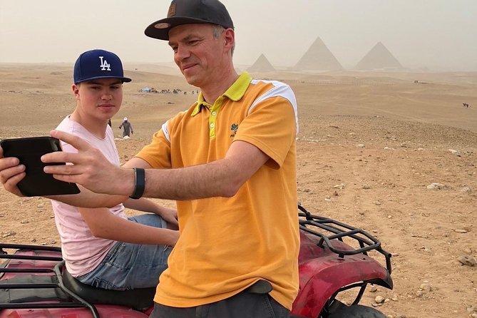 ATV quad bike ride at Giza pyramids & sound & light show