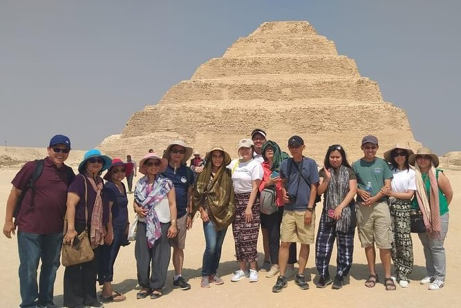 5 sites: Giza Pyramids, Sphinx, Saqqara, Dahshur, Memphis in private tour