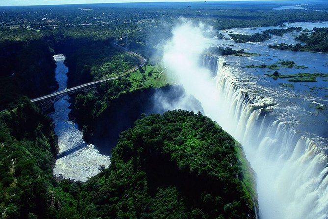 Helicopter Ride above the Mighty Victoria Falls