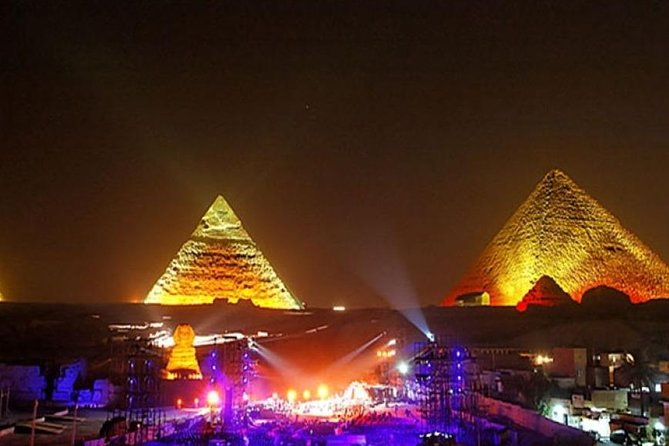 Sound and Light Show at Giza Pyramids with Pickup from Cairo