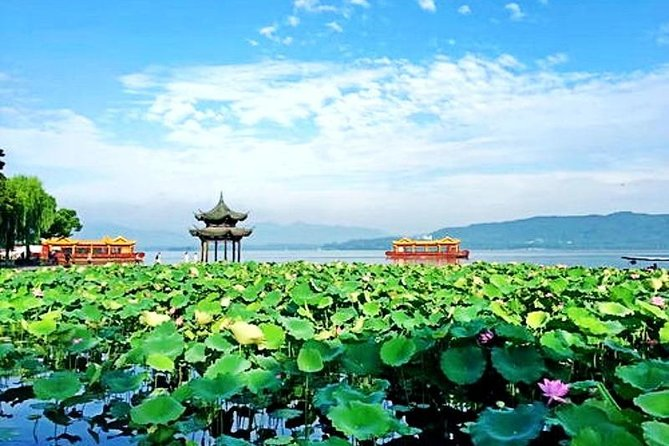 Half-Day Hangzhou Private Flexible Tour with West Lake Night Show VIP Ticket