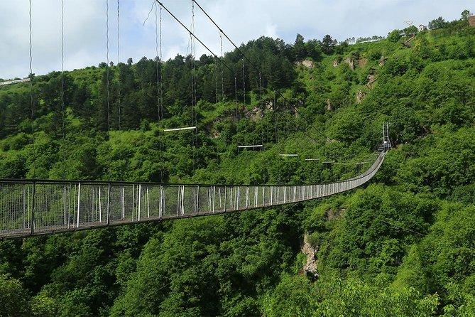 Group Tour: Khndzoresk(swinging bridge), Tatev Monastery, Shaki waterfall, Areni