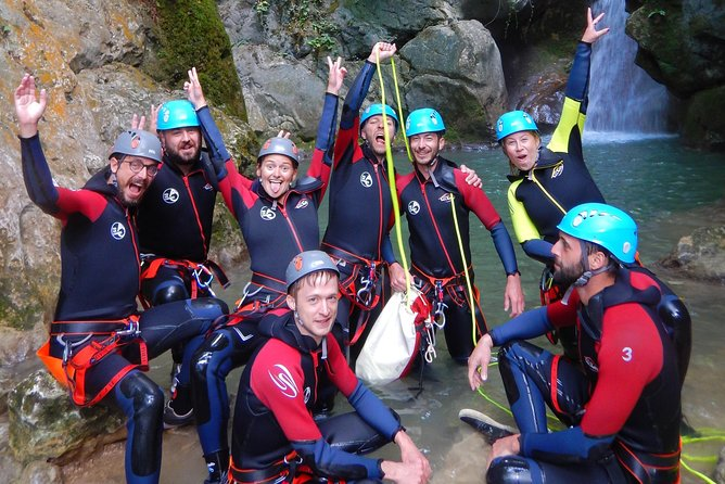 First canyoning in Grenoble in the Vercors