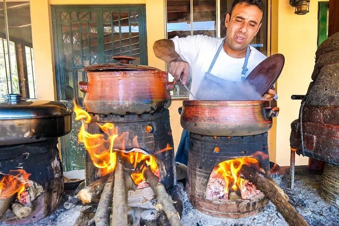 Top villages, local food production and lunch at Dounias
