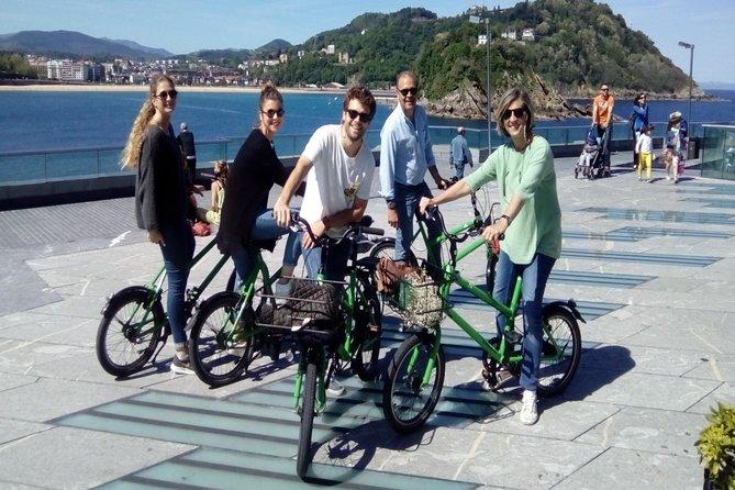 Highlight of San Sebastian riding a bike
