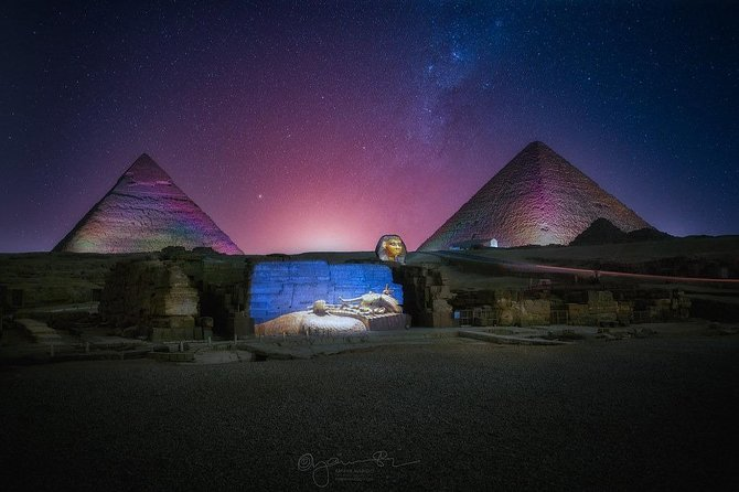 Cairo: Evening Sound and Light Show at Giza Pyramids with entrance fee