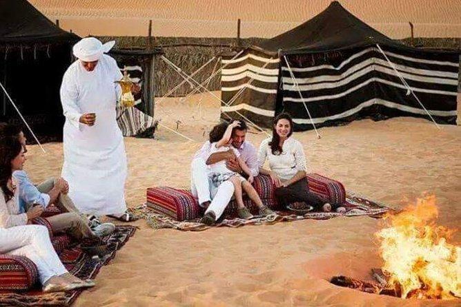 VIP Dubai Desert Safari Camel Ride, Sand Ski, BBQ Dinner. Quid BIke henna Tatto