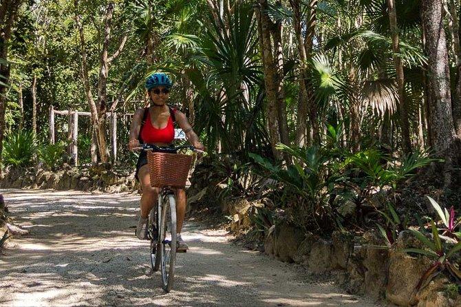 Tulum Bike Tour Tulum Maya Ruins Cenote Swimming Pueblo History Art Tacos Lunch