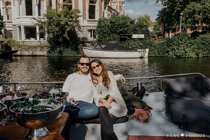 Private Amsterdam Boat Tour including Drinks and Dutch Snacks