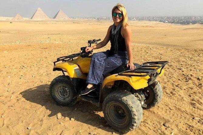 A private Quad Bike Ride around the Pyramids Dinner & the Sound and Light Show
