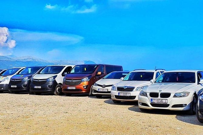 Private transfer from Split airport to Brela (any hotel/apartment) up to 8 pax
