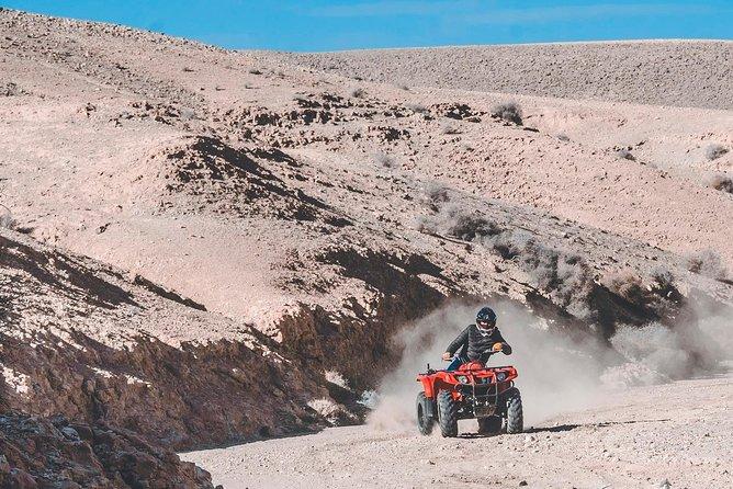 Agafay Desert Quad Bike Tour With snack in Marrakech