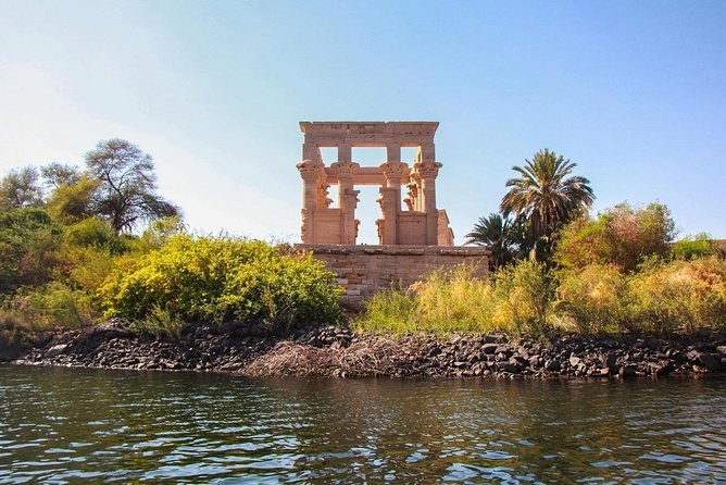 A sound and light show in the Philae Temple.