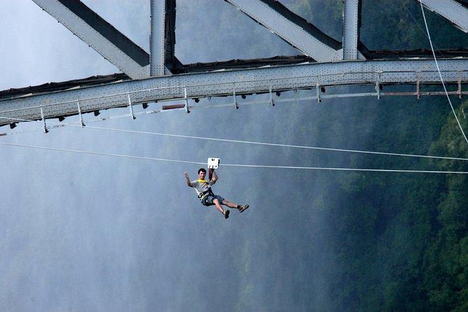 Tandem- Zip Line ( Foofie Slide) Victoria Falls Bridge.
