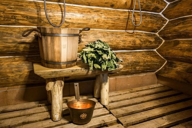 Russian banya (bath-house)