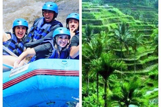 Top 1 Bali Rafting + Ubut Market, Monkey forest , tegalalang Rice terace Tour