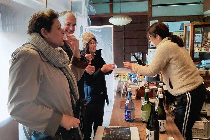 Yamaji Sake Brewery tasting.