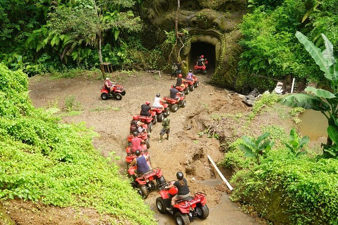 Jungle ATV Quad Bike Through Gorilla Face Cave