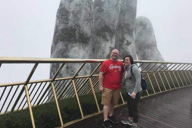 Private Guided Full Day Tour Ba Na Hills Golden Hands Bridge AND Marble Mountain