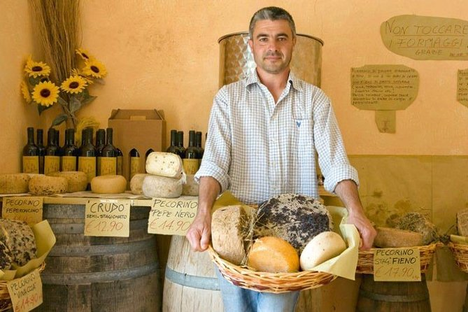 Wine Cheese and EVO Oil Tastings Southern Tuscany Fullday from Florence