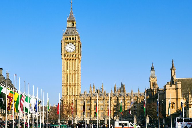 Private 12-Hour City Tour of London from Paris with roundtrip train tickets incl