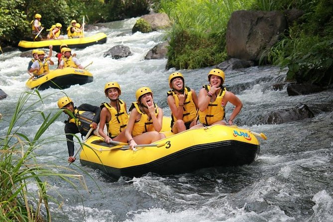 Telaga Waja White Water Rafting and Uluwatu Sunset Tour