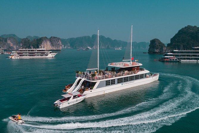 The Halong Catamaran 1 Day Trip: Kayaking, Swimming in Halong bay & Lan Ha bay