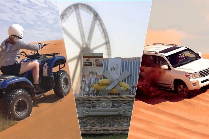 Dubai Desert Safari, Quad Bike, Camel Rides & Picnic Brunch