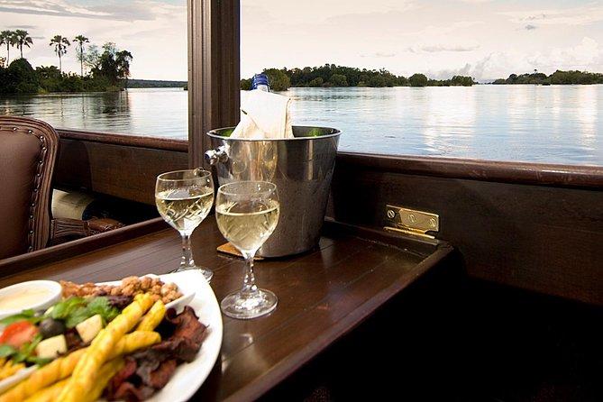 Dinner Cruise along Zambezi River with Hotel Pick Up