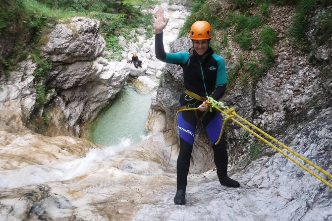 Canyoning Fratarica with a trip through the Julian Alps