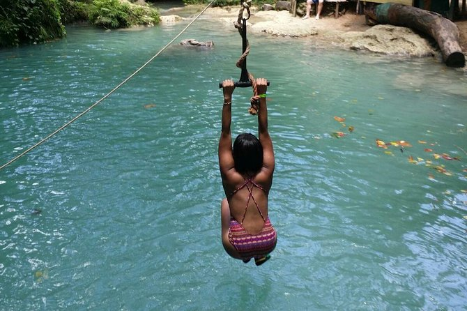 Full-Day Blue Hole and Zipline Private Tour from Falmouth