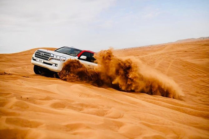 Private Red Dunes with Camel Ride, Sandboarding, Falcon & Arabic Coffee Package