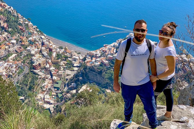 Positano from the above, accrossing the holey mountain