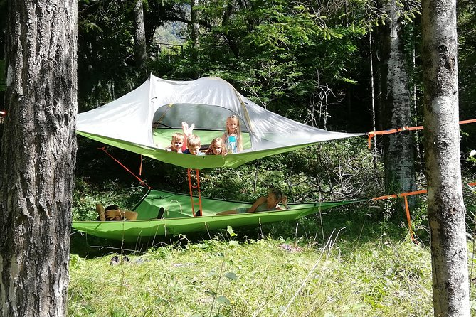 Tree Tent Camping in the wilderness
