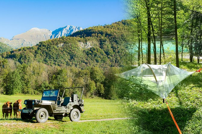 Iconic Willys Jeep and Tree tent Camping Adventure