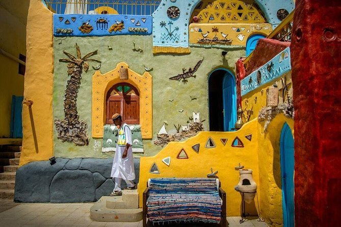 Aswan: Guided Tour to Philae Temple and Nubian Village By Motorboat