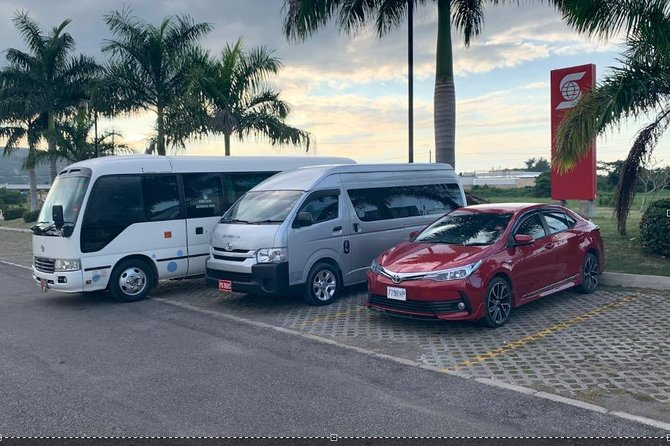 Airport and Hotel Transfers within Montego Bay, Lucea and Falmouth.
