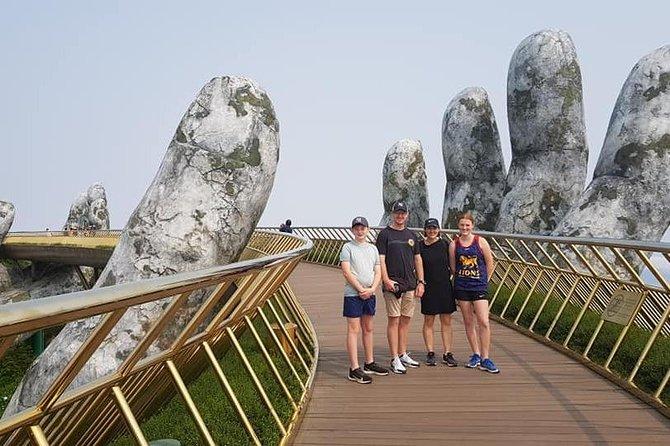 Hoi An or Da Nang City to GOLDEN BRIDGE &MY SON HOLYLAND (Private RoundTransfer)