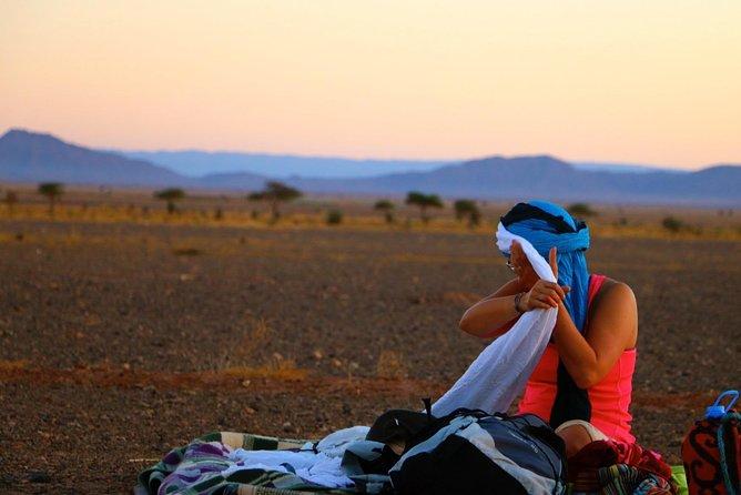From Zagora: 6 Days Private Camel Trekking to M'hamid Desert