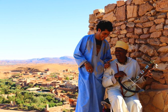 Day trip from Ouarzazate: Teloute, Ait Ben Haddou & Oasis Fint including lunch