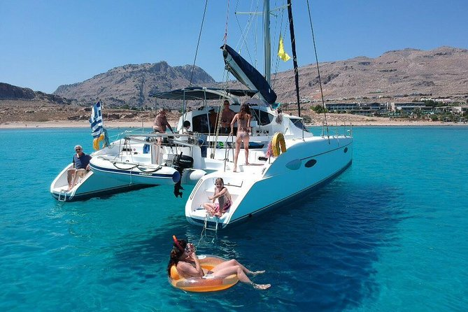 Private Catamaran Day Trip in Lindos, Rhodes with Lunch