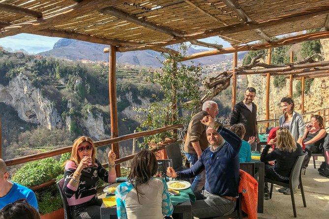 The real spirit of Amalfi Coast, vineyards & cellars tour above Furore Fjord